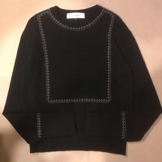 ルシェルブルー(LE CIEL BLEU)のLE CIEL BLEU ルシェルブルー 装飾ニット セーター ウール100% (ニット/セーター)
