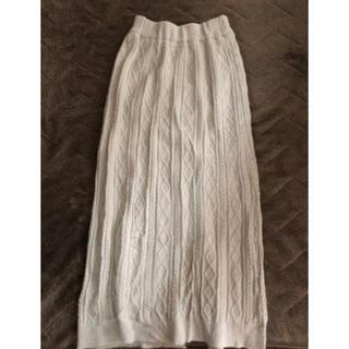 ダブルクローゼット(w closet)のw closet ケーブル編みニットロングスカート(ロングスカート)