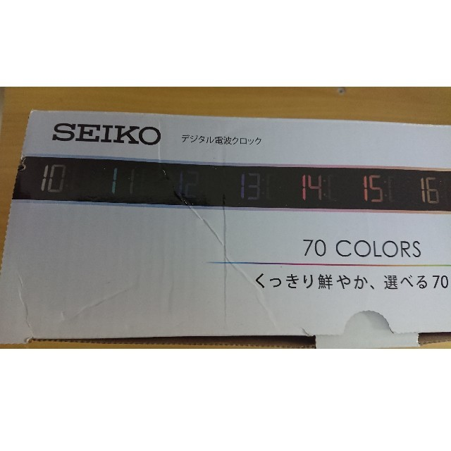SEIKO(セイコー)のセイコー クロック 掛け時計 置き時計 兼用 電波 デジタル 交流式 カラー液晶 インテリア/住まい/日用品のインテリア小物(置時計)の商品写真
