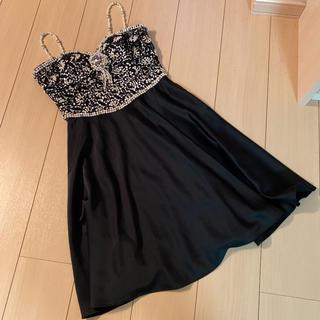 アンディ(Andy)の美品 アンディ ビジューワンピース ドレス 黒(その他ドレス)
