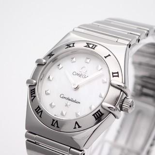OMEGA - 【OMEGA】オメガ腕時計'マイチョイス' ☆ホワイトシェル [美品]☆
