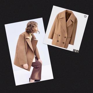 ユニクロ(UNIQLO)の美品✨ユニクロ ルメール ウールブレンド Pコート ピーコート ウールジャケット(ピーコート)