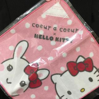 クーラクール(coeur a coeur)のクーラクール キティ キティコラボ ループ付きタオル(その他)