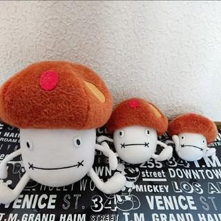 エヌティティドコモ(NTTdocomo)の【非売品】ドコモダケ ぬいぐるみ 3点セット♥️docomo(キャラクターグッズ)
