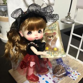 バレンタインワンピセット1(黒)(人形)