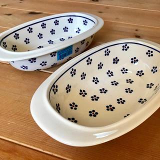 ポーリッシュポタリー グラタン皿 2枚セット