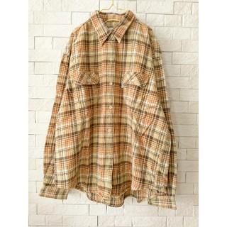 used ネルシャツ ♡ チェック柄 大きいサイズ(シャツ/ブラウス(長袖/七分))