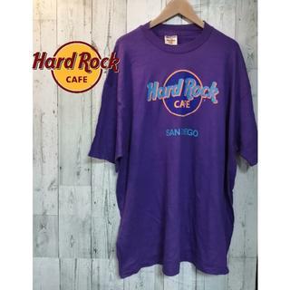 ハードロックカフェ Tシャツ USA製ヴィンテージ品 古着 Tシャツ  紫 XL