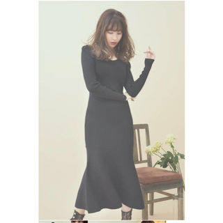 エーケービーフォーティーエイト(AKB48)のHer lip to Sparkle Ribbed-Knit Dress(ロングワンピース/マキシワンピース)