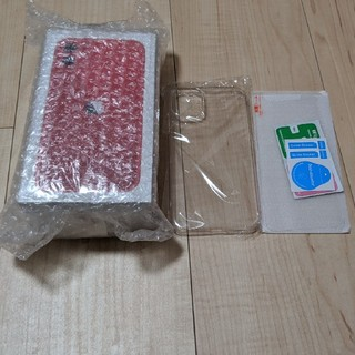 iPhone - 【新品】iPhone11 Apple版シムフリー レッド 64GB  おまけ付