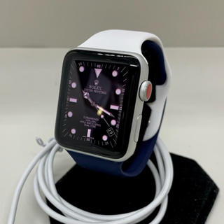 アップルウォッチ(Apple Watch)の【送料込み】アップルウォッチ3 セルラーモデル 42mm シルバー(腕時計(デジタル))