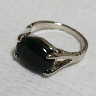 天然石 20号 シルバー メンズ ★クーちゃん様専用★ディープグリーン リング (リング(指輪))