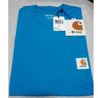 アウェイク(AWAKE)のAWAKE NY CARHARTT WIP S/S T-SHIRT BLUE L(Tシャツ/カットソー(半袖/袖なし))