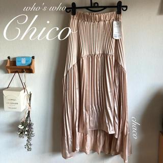 who's who Chico - 人気🌷¥6490【Chico】イレヘムプリースカート サテンプリーツ