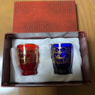 箱付き ベネチアングラス  グラス ペア 2つ 置き物