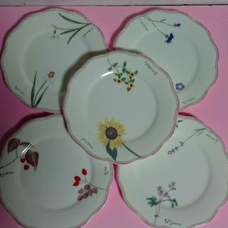 ミカサ(MIKASA)のMIKASA 前田まゆみ ボーンチャイナ  プレート皿 5枚セット(食器)
