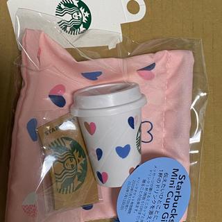 スターバックスコーヒー(Starbucks Coffee)の新品 バレンタイン2020 スターバックスミニカップギフトドリンクチケットスタバ(フード/ドリンク券)
