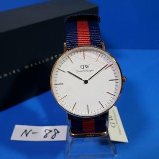 ダニエルウェリントン(Daniel Wellington)のN-88新品36mm❤D.W.オックスフォード♥メンズ白♥激安価格♥送料無料(腕時計(アナログ))
