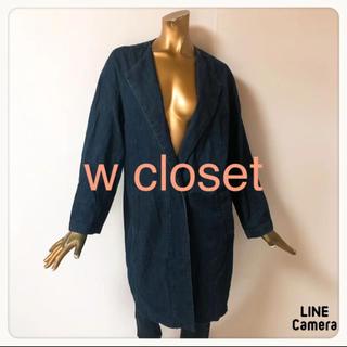 ダブルクローゼット(w closet)の☘T1757☘w closet デニム チェスターコート F(チェスターコート)