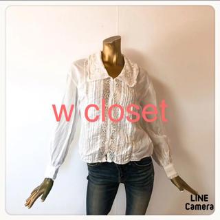 ダブルクローゼット(w closet)の☘T1802☘w closet レース ブラウス シャツ F(シャツ/ブラウス(長袖/七分))