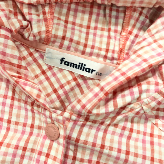 familiar(ファミリア)の3回程着用!ファミリア♡リアちゃん 薄手パーカー 110 キッズ/ベビー/マタニティのキッズ服女の子用(90cm~)(ジャケット/上着)の商品写真