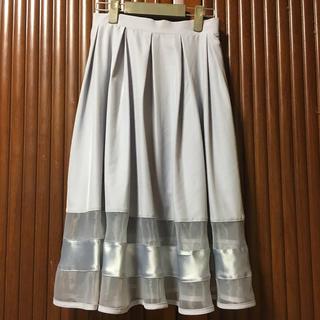 NICE CLAUP - 膝丈 フレアスカート