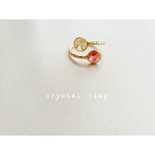 『レッド&イエロー』の小さなcrystalリング(リング(指輪))
