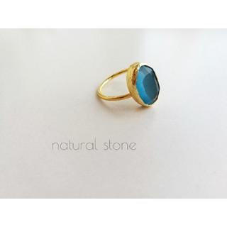 『オーシャンムーンストーン』の世界でひとつの天然石リング(リング(指輪))