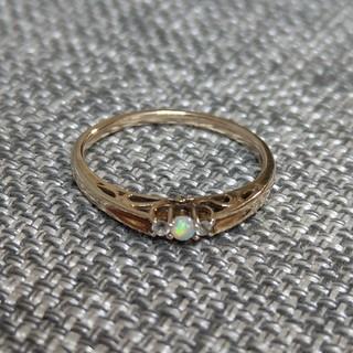 オパール指輪リングゴールド