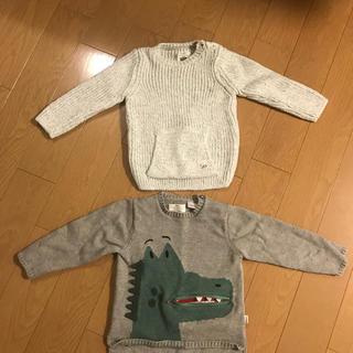 ザラ(ZARA)のZARA キッズ ニット セーター セット 恐竜 90(ニット)