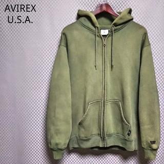 アヴィレックス(AVIREX)のアヴィレックス☆フルジップスウェットパーカ プルオーバー タイダイ L グリーン(パーカー)