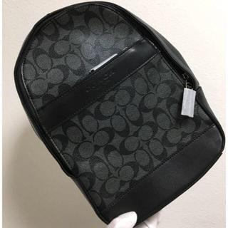 コーチ(COACH)のグレー×ブラック ボディバッグ❤️シグネチャーコーチ新品・未使用(ウエストポーチ)