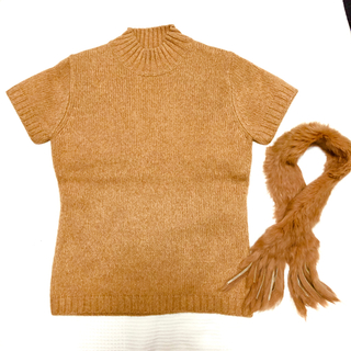 ルーニィ(LOUNIE)のLOUNIE 新品タグ付き ラビットファー付き アンゴラ混ニットセーター(ニット/セーター)