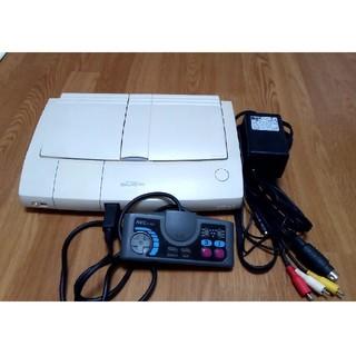 エヌイーシー(NEC)のPCエンジンDUO-R、必要配線一式、コントローラー(家庭用ゲーム機本体)