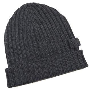 プラダ(PRADA)の新品プラダPRADAウール100%リヴニット帽子 男女兼用 グレー(ニット帽/ビーニー)