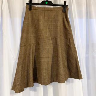 イエナスローブ(IENA SLOBE)のチェックスカート(ひざ丈スカート)