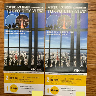 TOKYO CITY VIEW 展望台/ 森美術館ペア招待券(遊園地/テーマパーク)