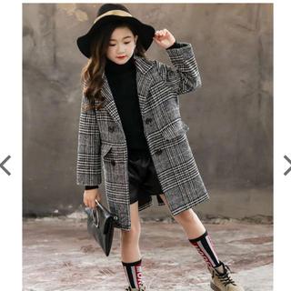 ZARA - 韓国子ども服女の子グレンチェックチェスターコート