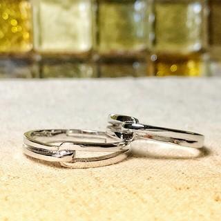 【即日発送  箱つき】2個セット カップル ペアリング シルバーリング 指輪♥(リング(指輪))