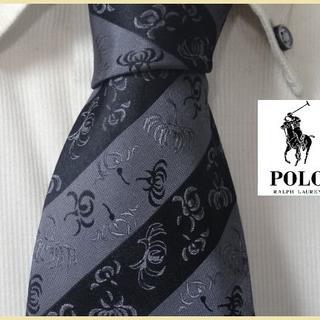 POLO RALPH LAUREN - USA製★ポロラルフローレン★【気品あふれるボタニカル柄】高級ネクタイ