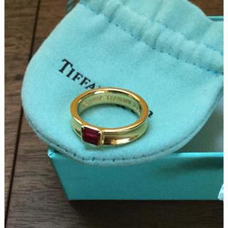 ティファニー(Tiffany & Co.)のティファニーTiffany★ルビーK18金イエローゴールドのリング9号★中古美品(リング(指輪))