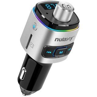FMトランスミッター Bluetooth 5.0 車載充電器 急速充電 高音質(車内アクセサリ)