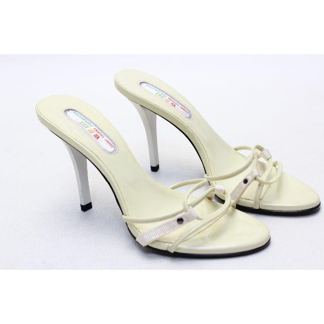 VII XII XXX(セヴントゥエルヴサーティ)の128■VII XII XXX エナメルコンビ素材ミュール(35)美品 レディースの靴/シューズ(サンダル)の商品写真