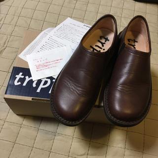 トリッペン(trippen)のTrippen トリッペン yen エン スリッポン 37 茶 ブラウン(ローファー/革靴)