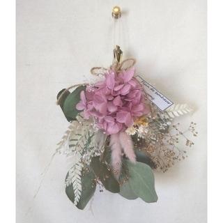 spring mini swag(macaroon pink)(ドライフラワー)