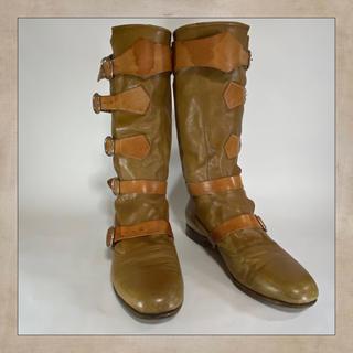 ヴィヴィアンウエストウッド(Vivienne Westwood)のVivienne Westwood パイレーツブーツ イエロー  UK7(ブーツ)