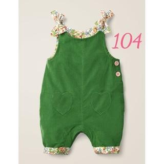 ボーデン(Boden)の2019AW Baby Boden ハートポケットオーバーオール グリーン104(その他)