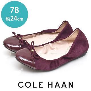 コールハーン(Cole Haan)の新品❤️コールハーン リボン スウェード バレエシューズ 7B(約24cm)(ハイヒール/パンプス)