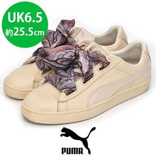 プーマ(PUMA)の美品❤️プーマ バスケット ハート レディーススニーカー UK6.5(25.5(スニーカー)