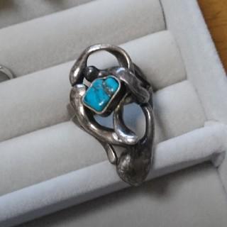 140 ヴィンテージ ターコイズ silver リング シルバー 指輪(リング(指輪))